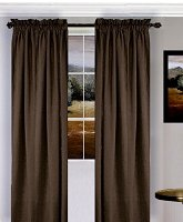 Solid Brown Colored Window Long Curtain (available in many lengths and 3 rod pocket sizes)
