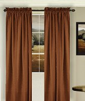 Solid Copper Colored Window Long Curtain (available in many lengths and 3 rod pocket sizes)