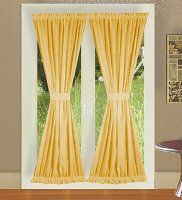 Solid Gold Colored French Door Curtain (available in many lengths)