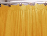 Solid Golden Yellow Colored Shower Curtain