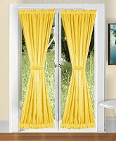 Solid Golden Yellow Colored French Door Curtain (available in many lengths)