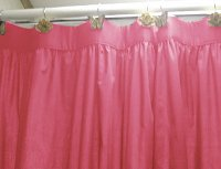 Solid Hot Pink-Fuchsia Colored Shower Curtain