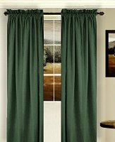 Solid Hunter Green Colored Window Long Curtain (available in many lengths and 3 rod pocket sizes)
