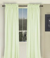 Solid Light Green Colored Window Long Curtain (available in many lengths and 3 rod pocket sizes)