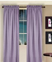 Solid Light Purple Colored Window Long Curtain (available in many lengths and 3 rod pocket sizes)