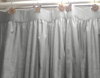 Solid Light Silver Gray Colored Shower Curtain