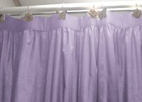 Solid Light Purple (Lilac) Colored Shower Curtain