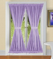 Solid Light Purple (Lilac) Colored French Door Curtain (available in many lengths)