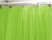 Solid Lime Green Colored Shower Curtain