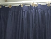 Solid Navy Blue Colored Shower Curtain