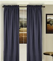 Solid Navy Blue Colored Window Long Curtain (available in many lengths and 3 rod pocket sizes)