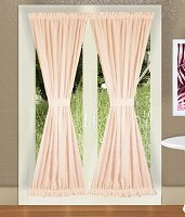 Solid Nude-Blush Pink Colored French Door Curtain (available in many lengths)