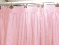 Solid Pink Colored Shower Curtain