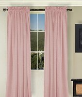 Solid Pink Colored Window Long Curtain (available in many lengths and 3 rod pocket sizes)