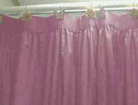 Solid Powder Plum Color Shower Curtain