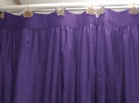 Solid Purple Colored Shower Curtain