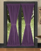 Solid Purple Colored French Door Curtain (available in many lengths)