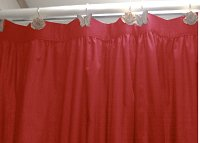 Solid Red Colored Shower Curtain