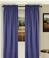 Solid Royal Blue Colored Window Long Curtain (available in many lengths and 3 rod pocket sizes)
