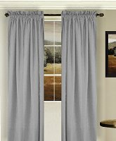 Solid Light Silver Gray Colored Window Long Curtain (available in many lengths and 3 rod pocket sizes)