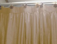 Solid Tan Colored Shower Curtain