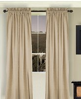 Solid Tan-Beige Colored Window Long Curtain (available in many lengths and 3 rod pocket sizes)
