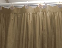 Solid Taupe-Khaki Colored Shower Curtain
