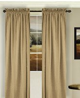 Solid Taupe Colored Window Long Curtain (available in many lengths and 3 rod pocket sizes)