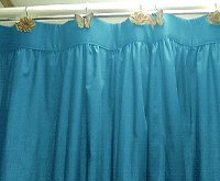Solid Turquoise Colored Shower Curtain