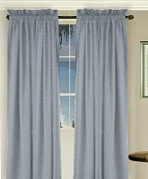 Solid Wedgewood Blue Colored Long Window Curtain (available in many lengths and 3 rod pocket sizes)