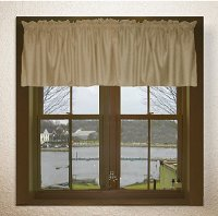 Solid Taupe-Khaki Color Valances (set of two 40 inch wide, available in many lengths)