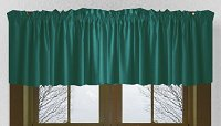 Solid Teal Color Valances (set of two 40 inch wide, available in many lengths)