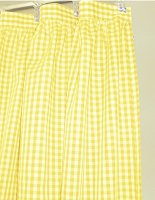 Yellow Gingham Check Shower Curtain