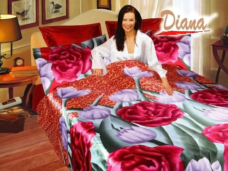 Jasmine Colorful Bedding With Vivid Print Of Peonies And