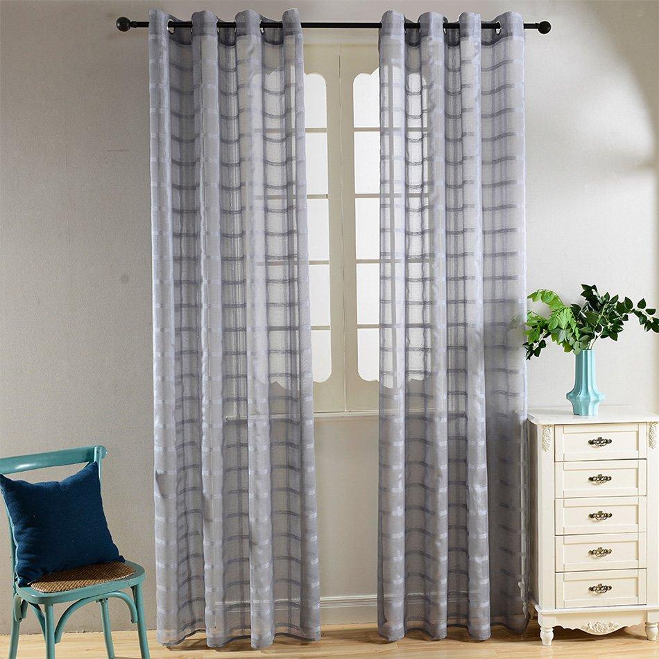 Dolce Mela Sheer Curtain Panel 60 X 100 Inch Tall Window Treatments