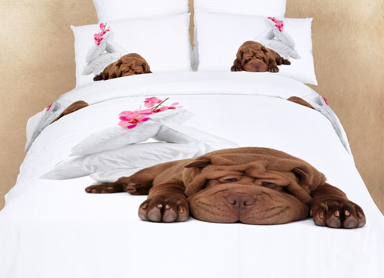 Sleepy Dorm Room Bedding Xl Twin Fun Dog Print Duvet