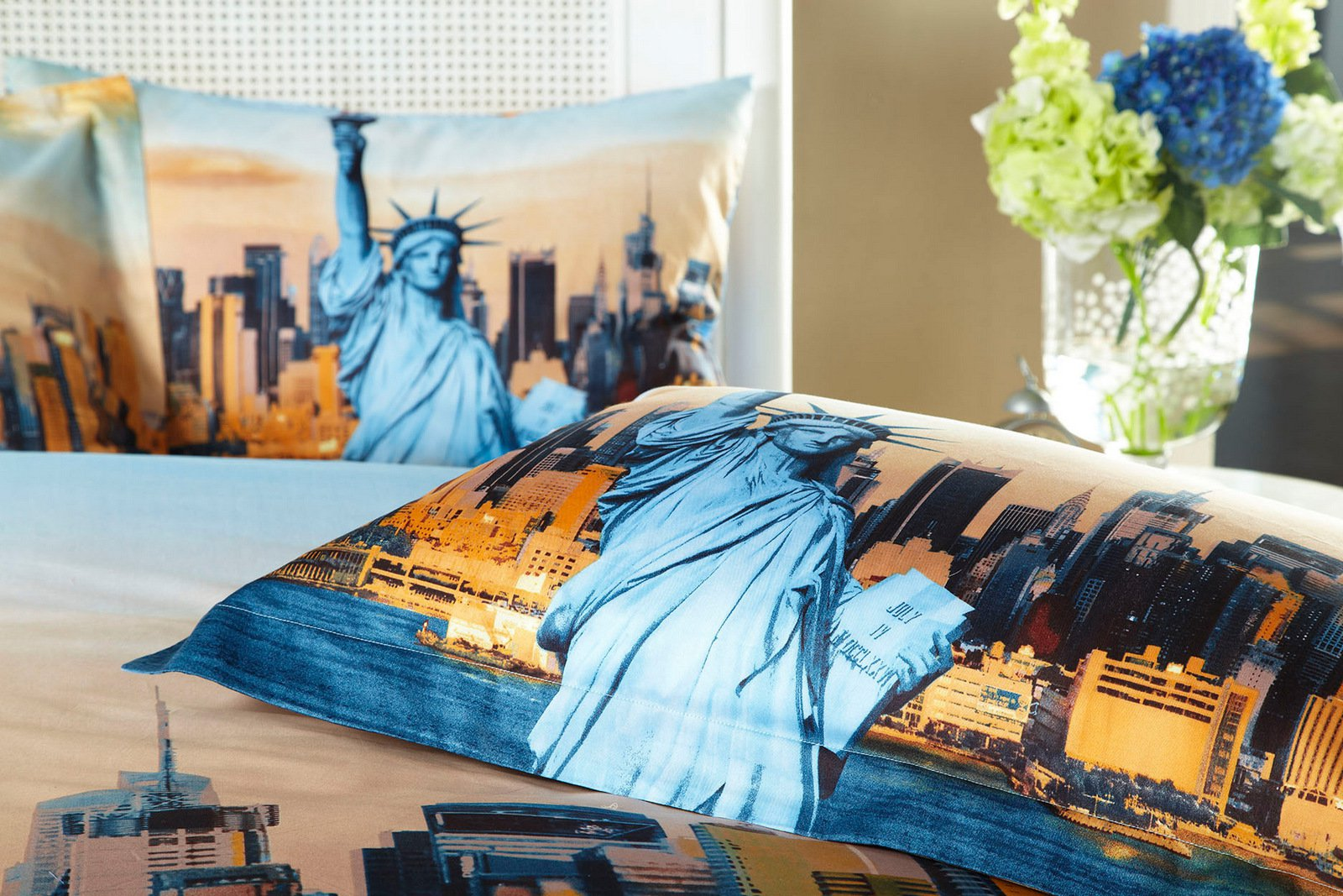Statue of Liberty, NYC City Themed XL Twin Size Bedding Duvet Cover ...