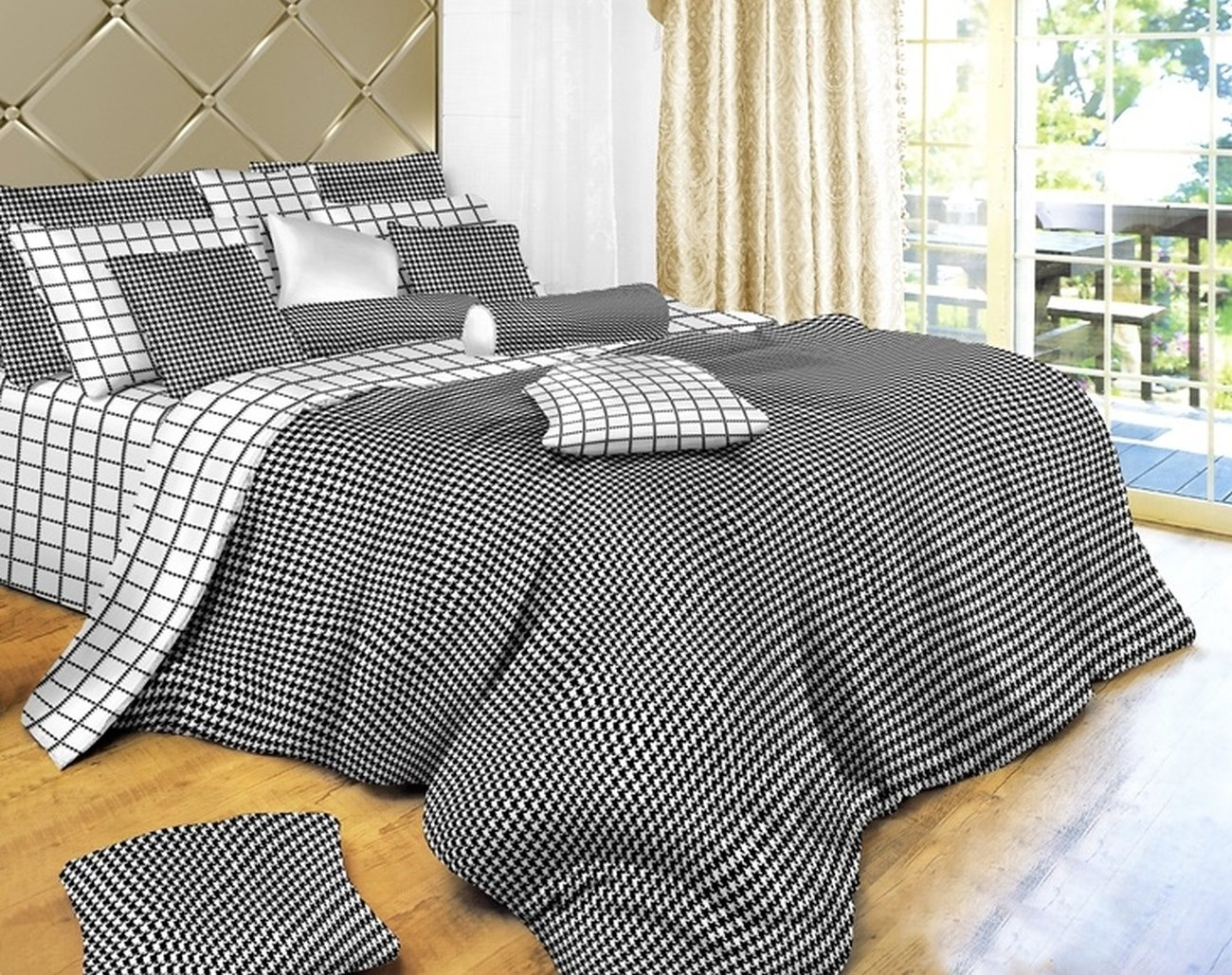 Black Amp White Check Black Amp White Check Bedding 4 Piece
