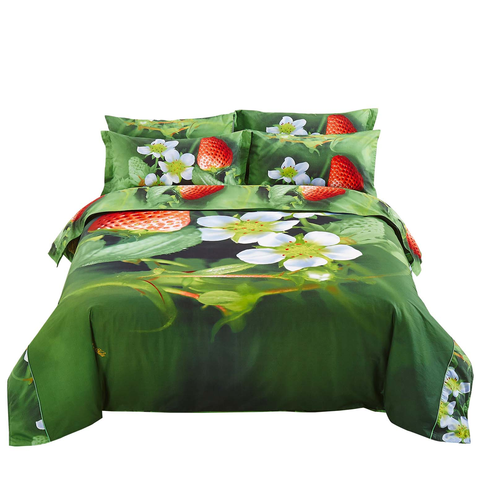 Dolce Mela Strawberry Queen Size 6 Piece Duvet Cover