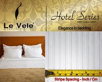 White Stripes Hotel Line by Le Vele, 6-PC Full/Queen Duvet Cover Set LE295Q