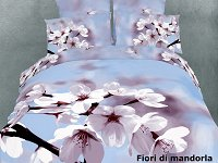 Fiori di Mandorla by Dolce Mela-6PCs Duvet Cover Bed in a Bag-Full-Queen Bedding Gift Set-DM401Q