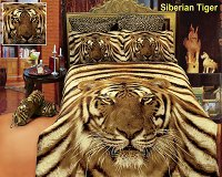 Siberian Tiger by Dolce Mela, 6-PC Duvet Cover Set, Bed in a Bag Queen Size in Dolce Mela Gift Box
