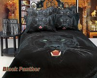 Black Panther by Dolce Mela, 6-PC Queen Size Duvet Cover Set in a Beautiful Dolce Mela Gift Box DM413Q
