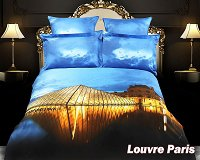 Louvre Paris by Dolce Mela, 6-PC King Size Duvet Cover Set in a Beautiful Dolce Mela Gift Box DM430K