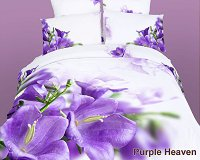 Purple Heaven by Dolce Mela, 6-PC Queen Size Egyptian Cotton Duvet Cover Set in a Beautiful Dolce Mela Gift Box DM442Q