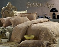 Golden Age by Dolce Mela, 6-PC Queen Size Egyptian Cotton Duvet Cover Set in a Beautiful Dolce Mela Gift Box DM444Q