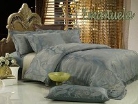 Emanuela by Dolce Mela, 6-PC Queen Size Egyptian Cotton Duvet Cover Set in a Beautiful Dolce Mela Gift Box DM447Q