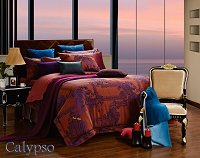 Calypso by Dolce Mela, 6-PC Queen Size Duvet Cover Set Luxury Linen Bedding Set in Beautiful Gift Box