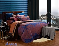 Areon by Dolce Mela, 6-PC King Size Duvet Cover Set Luxury Linen Bedding Set in Beautiful Gift Box