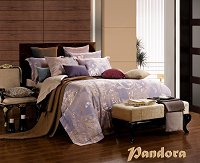 Pandora by Dolce Mela, 6-PC Queen Size Duvet Cover Set Luxury Linen Bedding Set in Beautiful Gift Box